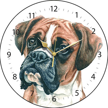 03 boxer wall clock