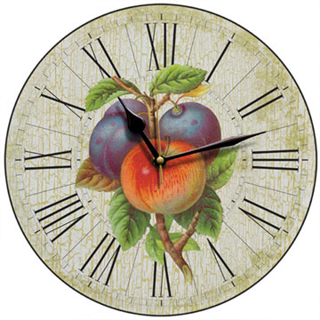 Apples and Plums Wall Clock
