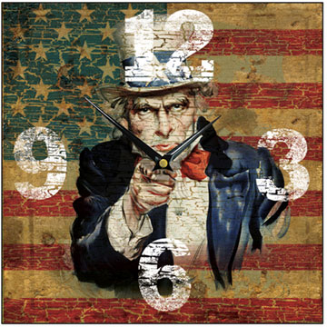 American Uncle Sam Square Wall Clock