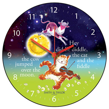 The Cow Jumped Over the Moon Round Children's Wall Clock