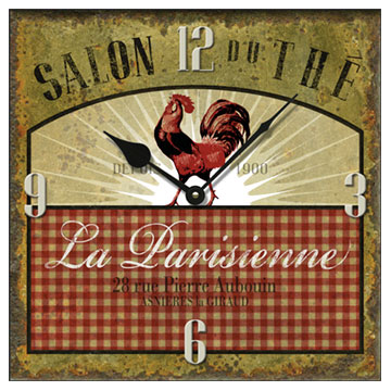 "La Parisienne 14"" Square Wall Clock"
