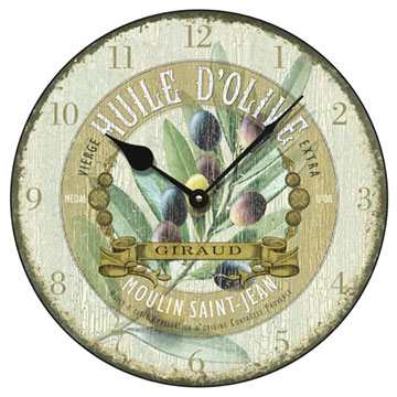 "Huile d'Olive Antique 14"" Wall Clock"