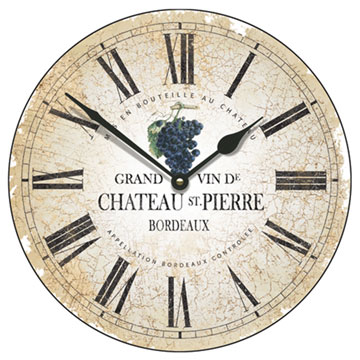 """Chateau St Pierre 18"""" Large Wall Clock"""