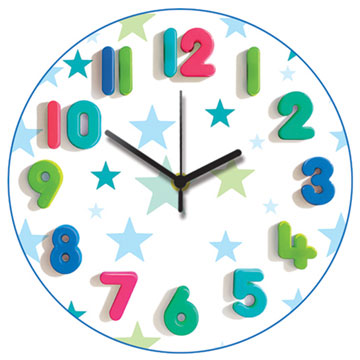 Blue Star Round Wall Clock