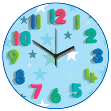 Blue Star Too Round Wall Clock