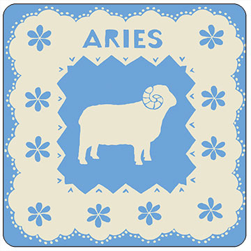 Perkins & Morley Aries Astrology Square Coaster