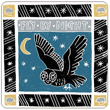 Perkins & Morley Fly by Night Phrase Square Coaster
