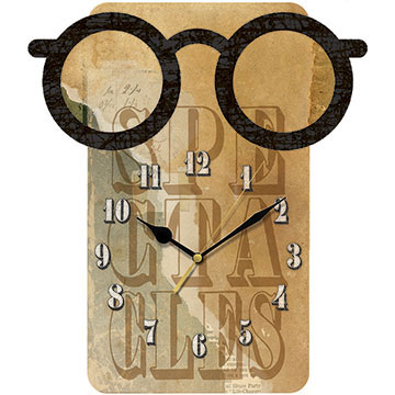 Spectacles Shaped Wall Clock