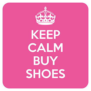 Keep Calm - Buy Shoes Coaster