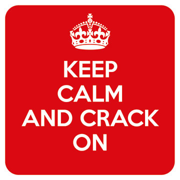 Keep Calm - Crack On Coaster