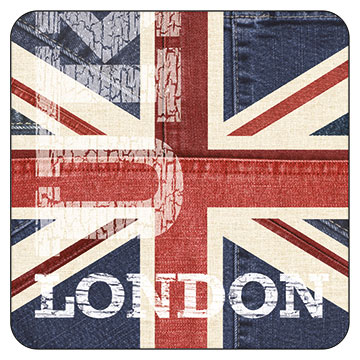 London UK Denim #One Coaster
